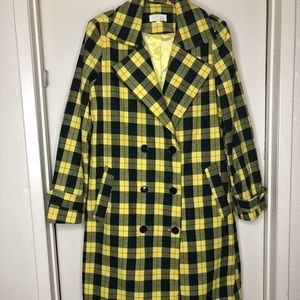 Jackets & Blazers - Yellow n navy long trench